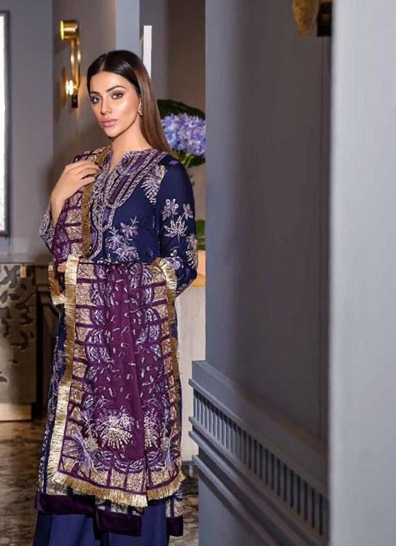 Eshaisha Luxury Embroidered Vol-2 Winter 2019 suit EA-513