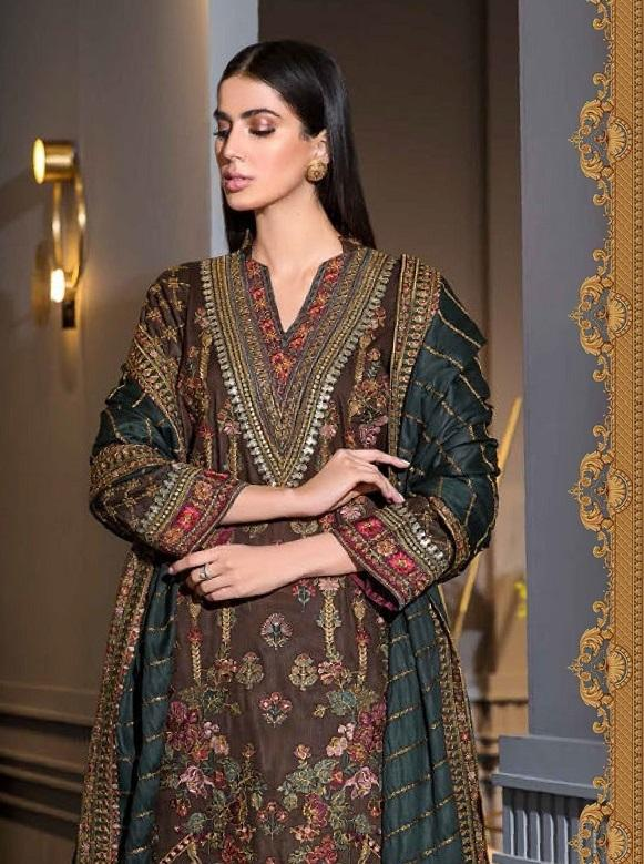 Eshaisha Luxury Embroidered Vol-2 Winter 2019 suit EA-515