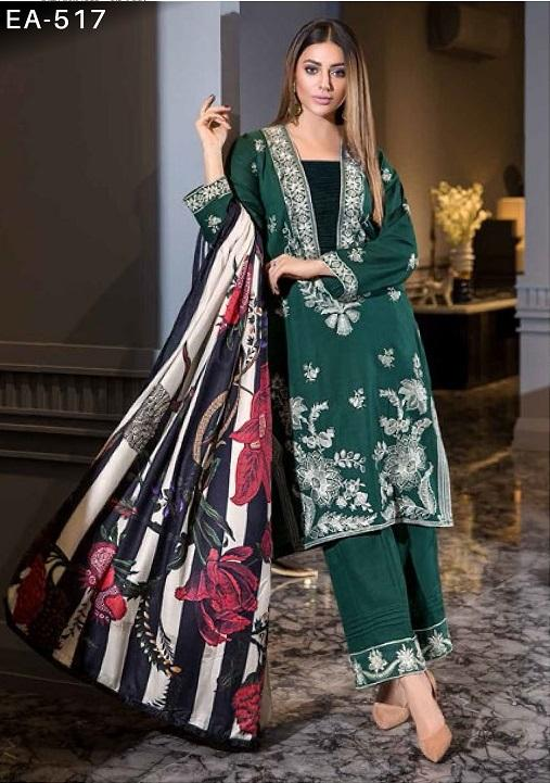 Eshaisha Luxury Embroidered Vol-2 Winter 2019 suit EA-517