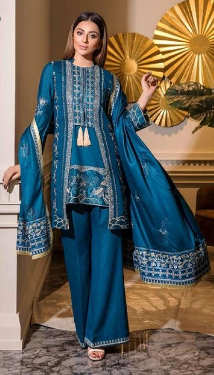 Eshaisha Luxury Embroidered Vol-2 Winter 2019 suit EA-519