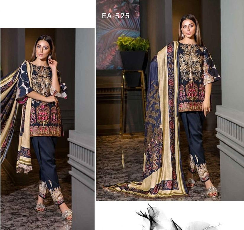 Eshaisha Luxury Embroidered Vol-2 Winter 2019 suit EA-525