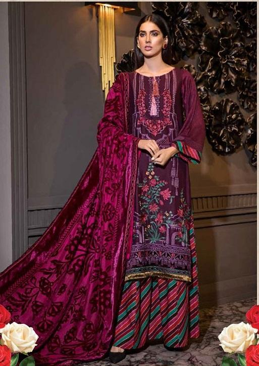 Eshaisha Luxury Embroidered Vol-2 Winter 2019 suit EA-527