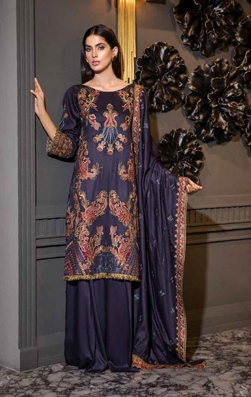 Eshaisha Luxury Embroidered Vol-2 Winter 2019 suit EA-528