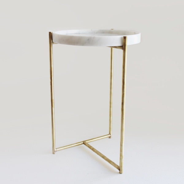 Oliver Marble & Brass Tables By Evie Group