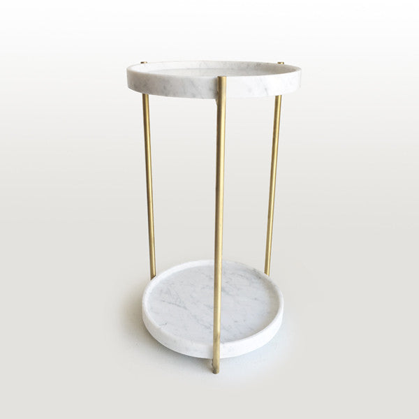 Oliver Marble & Brass Tables
