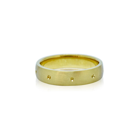Rustic Collection 18k Fairtrade gold Gents wedding ring