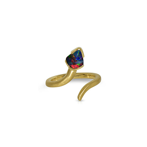 Earth by Sea collection Australian Boulder Opal Snake ring