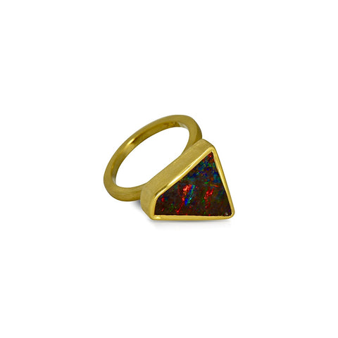 Earth by Sea collection Australian Boulder Opal ring