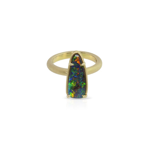 Earth by Sea collection, 18k yellow gold Australian Boulder Opal ring