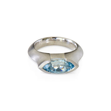 Modern collection, Marquise cut Aquamarine ring