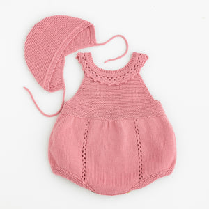 tenderblue knitted baby romper