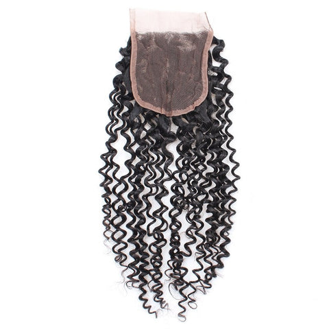 Tissage - Closure Brésilienne REMY Cheveux Naturels Kinky Curly Free Style