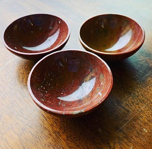 2 Red Jasper Devotional Bowl