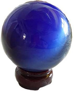75mm Cat's Eye Crystal Ball -Blue