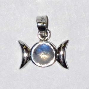 916 Triple Goddess Moonstone sterling