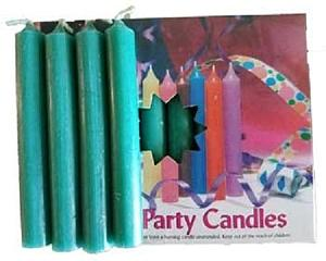 "1/2"" Dark Green Chime Candle 20 pack"