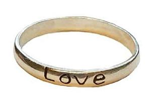 Love Band ring size 6 - 10 sterling