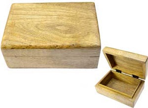 Natural wood box 4 x 6