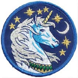 Unicorn iron-on patch 3