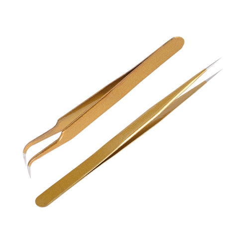 Frosted Gold Tweezer Set