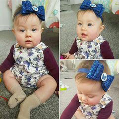Personalised bow -royal blue
