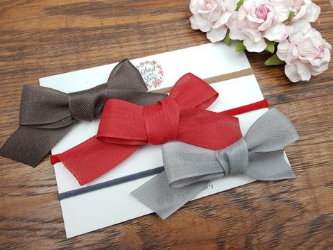 Tied Bow -  - Baby headband - Sweet and Berry