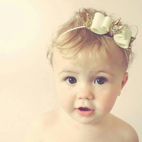 Little Royal collection - Crown hair clip / headband - bows - Baby headband - Sweet and Berry