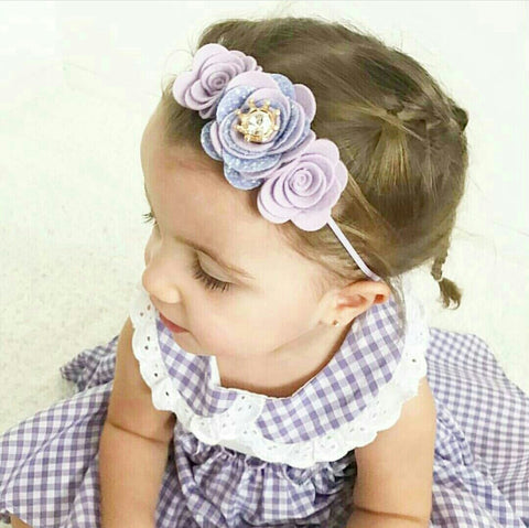 Design your own - Princess trio Flower headband -  - Baby headband - Sweet and Berry