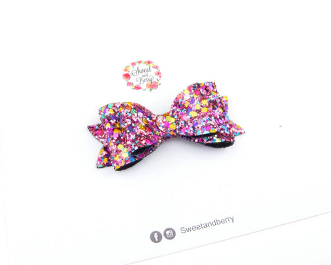 SALE Candy crush -  french bow - - Glitter Bow - Baby headband - Sweet and Berry