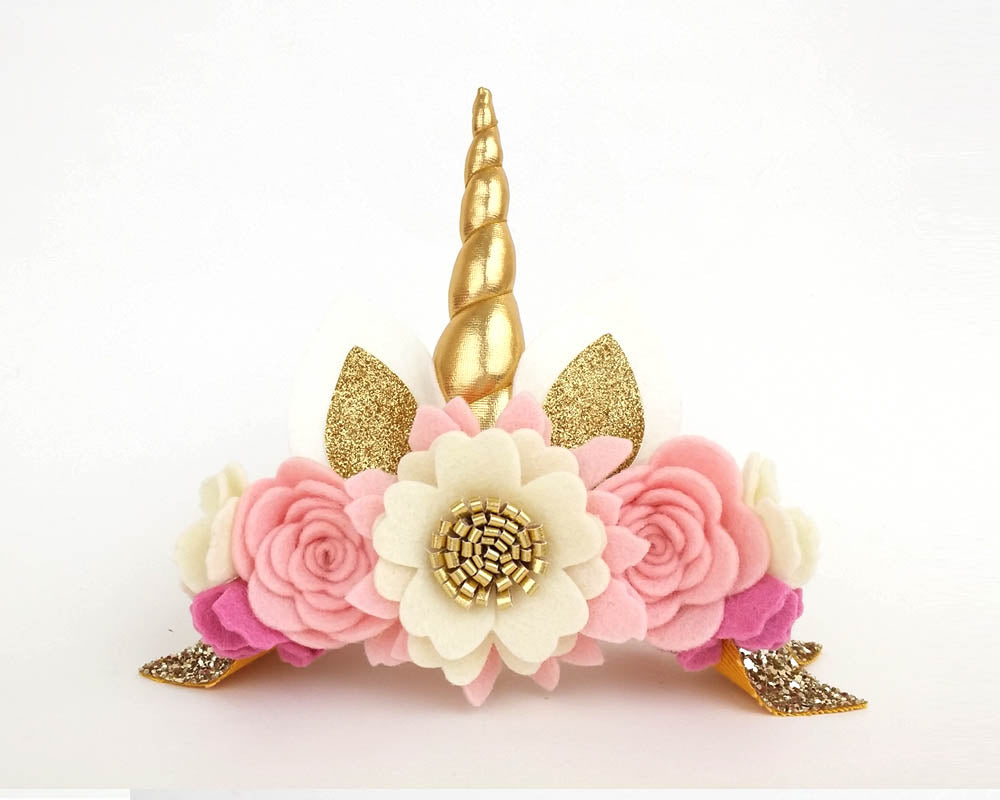Barely blush - Luxe Unicorn horn flower crown headband Unicorn Horn He –  Sweet and Berry 5431b894b37
