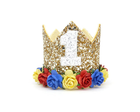 Birthday crown - Snow white inspired - birthday crown - Baby headband - Sweet and Berry