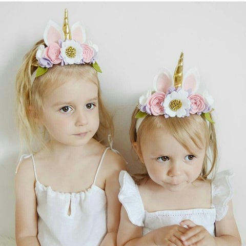 Pansy - Luxe Unicorn horn flower crown headband Unicorn Horn Headband - unicorn  horn - Baby e92020375e4