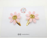 Daisy Hair snap clip Set of 2 - Spring summer hair clip - Girl hair clip - Hair clip - Baby headband - Sweet and Berry
