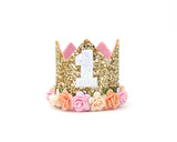 Birthday crown - Peach - birthday crown - Baby headband - Sweet and Berry