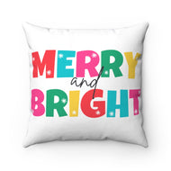 Merry and Bright Spun Polyester Square Pillow Case