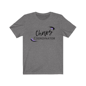Purple Chaos Coordinator Busy Mom Short Sleeve Tee