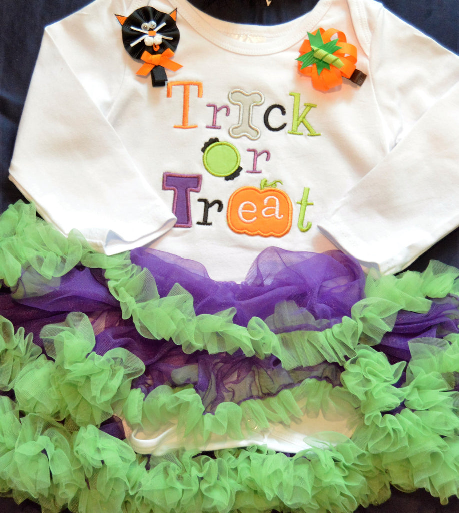 Trick or Treat Tutu Onesie