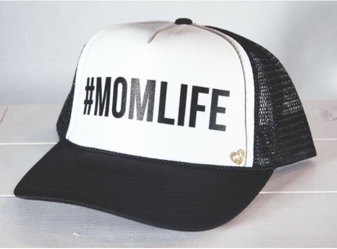 #MOMLIFE Hat (Black + White)