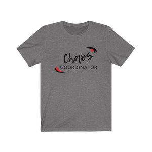Red Chaos Coordinator Busy Mom Short Sleeve Tee