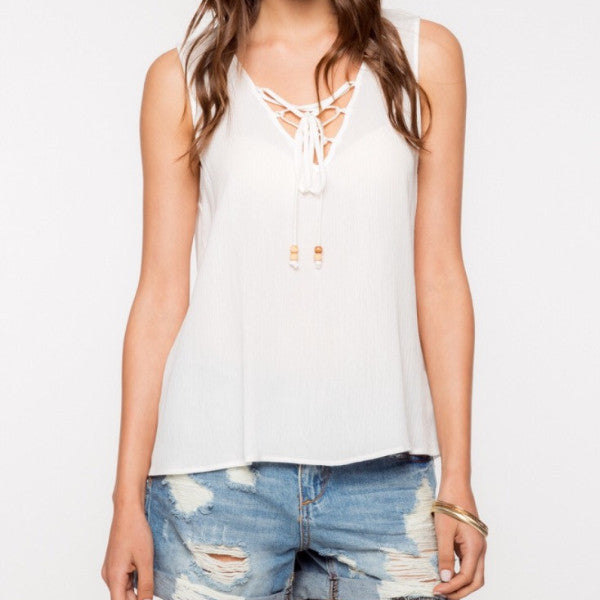 Breezy Lace-Up Tank