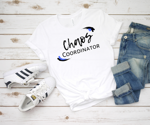 Royal Blue Chaos Coordinator Busy Mom Short Sleeve Tee