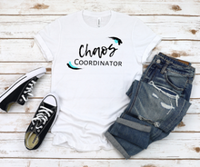 Load image into Gallery viewer, Teal Chaos Coordinator Busy Mom Short Sleeve Tee