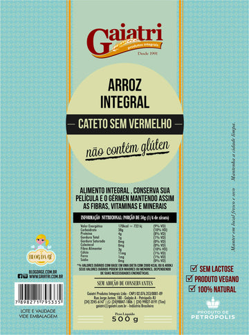 Arroz Cateto Integral (500g)