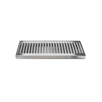 "12"" x 5"" Stainless Steel Drip Tray Surface without Drain - Toronto Brewing"