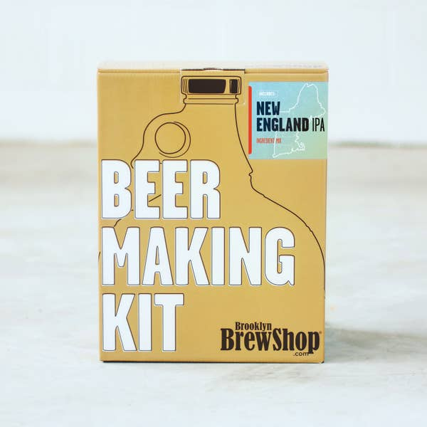 Brooklyn Brewshop Beer Making Equipment Kit - New England IPA (1 Gallon/10 Beers)
