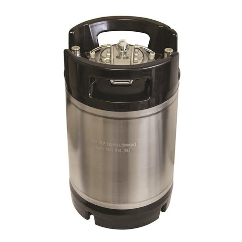 2.5 Gallon New Ball Lock Keg - AEB (Rubber Handles) - Toronto Brewing