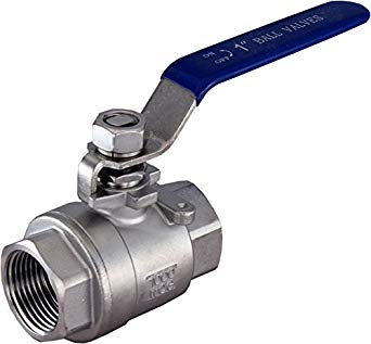 "Stainless Steel 1/2"" 2 piece Ball Valve"