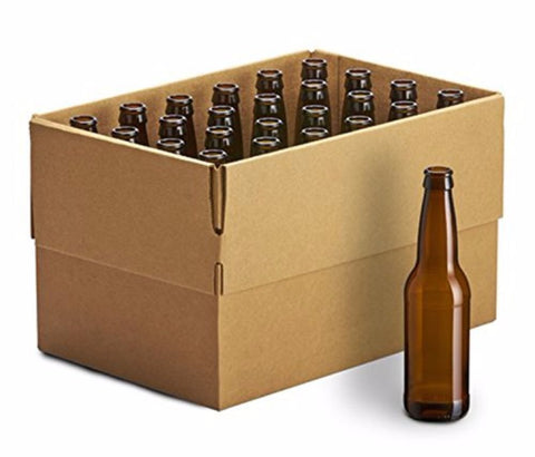 Glass Beer Bottles (Brown - 24 x 355 ml/12 oz)