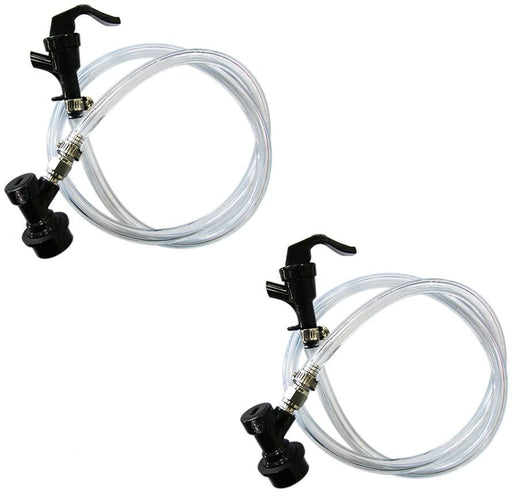 Ball Lock MFL Beverage Line Assemblies with Picnic Taps (Pack of 2)