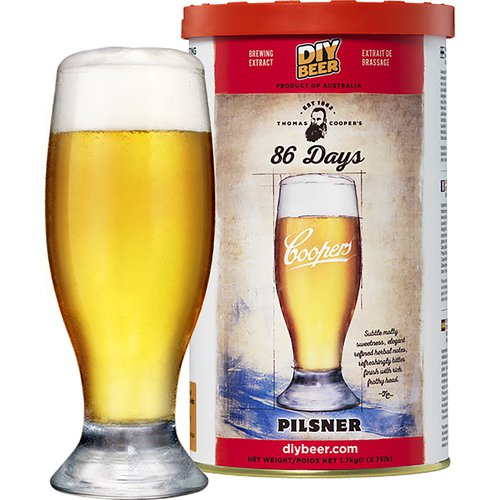 Coopers Beer Kit Pilsner '86 Days' (6 Gallon/23 Litre)